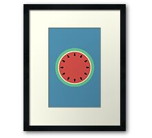 Watermelon Polka Dot on Light Blue Framed Print