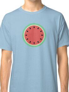 Watermelon Polka Dot on Light Blue Classic T-Shirt