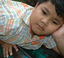 little boy get bored by bayu harsa