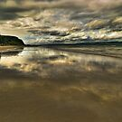 Big sky over Downhill beach (v1) by Peter Ellison