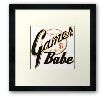 SF Giants Gamer Babe Framed Print