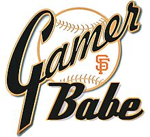SF Giants Gamer Babe Photographic Print