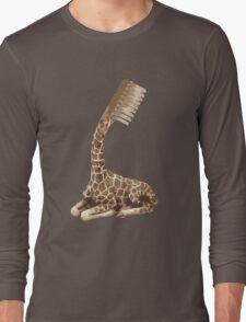 giraffe brush Long Sleeve T-Shirt