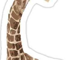 giraffe brush Sticker