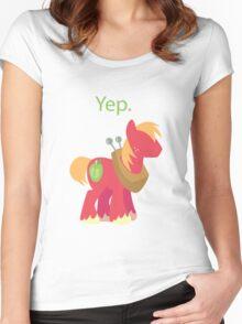 Big Mac yep Women's Fitted Scoop T-Shirt