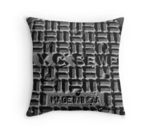 made in india, nyc Throw Pillow