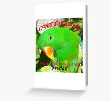 Pentax Challenge Banner Greeting Card