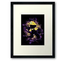 Super Smash Bros. Yellow/Wario Mario Silhouette Framed Print
