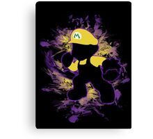 Super Smash Bros. Yellow/Wario Mario Silhouette Canvas Print