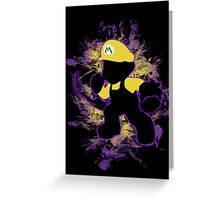 Super Smash Bros. Yellow/Wario Mario Silhouette Greeting Card