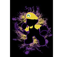 Super Smash Bros. Yellow/Wario Mario Silhouette Photographic Print