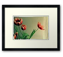 Red Tulips Polaroid Framed Print