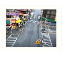 New York City Crossroad Miniature Art Print