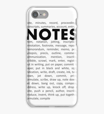 Notes! iPhone Case/Skin