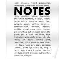 Notes! Poster