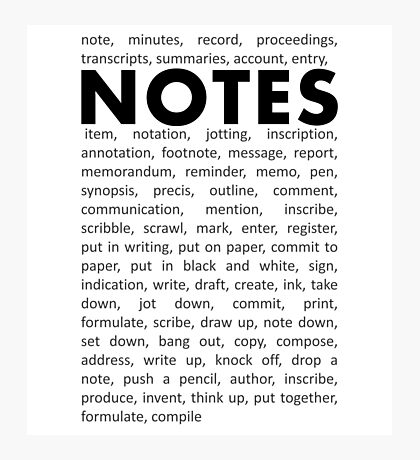 Notes! Photographic Print