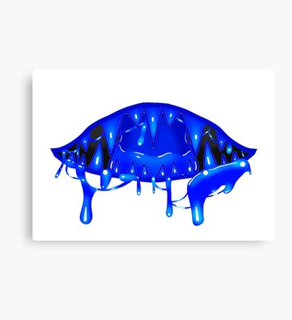 Mouth - Dark Blue Canvas Print