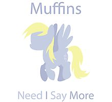 Derpy for Muffins Photographic Print