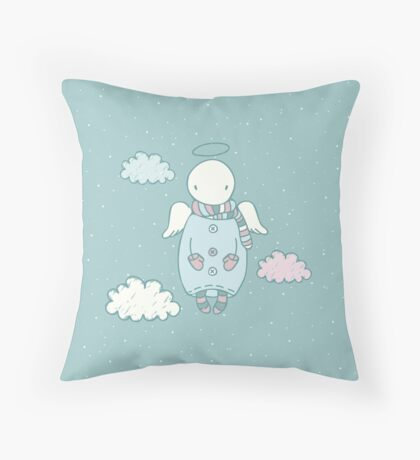 Angel in the Sky Throw Pillow