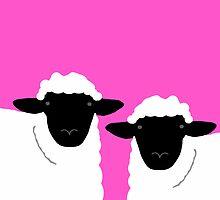 brian & beryl (pink) by hennydesigns
