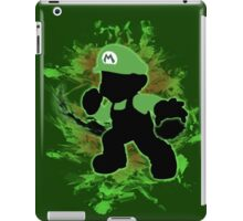 Super Smash Bros. Green Mario Silhouette iPad Case/Skin