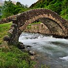romanesque bridge by Josep M Penalver