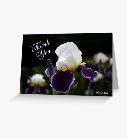 Iris ~ an Elegant Beauty Greeting Card