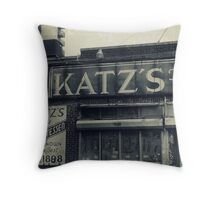 Famous Katz's Deli Throw Pillow