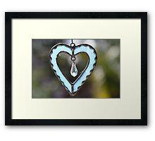 Blue Heart Framed Print