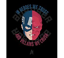 In Heroes We Trust – Captain America & Red Skull Photographic Print