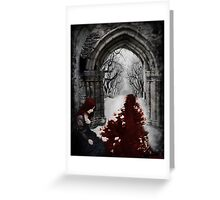 The river runs red Greeting Card