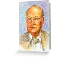 """"""" Uno scrittore al fronte"""" Winston Churchill portrait Greeting Card"""