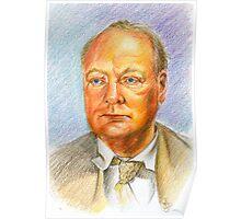 """"""" Uno scrittore al fronte"""" Winston Churchill portrait Poster"""