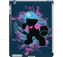 Super Smash Bros Blue Mario Silhouette iPad Case/Skin