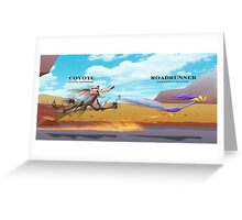 Looney Tunes Road Runner and Wile E. Coyote  Greeting Card