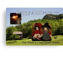 Anniversary ~ Dolls from Gladie Creek Canvas Print