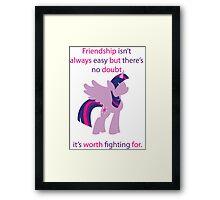 Twilight Friendship  Framed Print