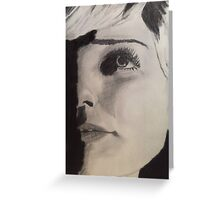 Elegant and Natural Beauty- Face Study Greeting Card