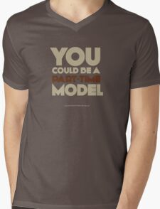 Part-time model Mens V-Neck T-Shirt