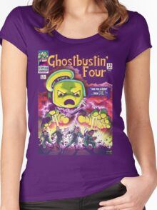 The Ghostbustin Four #49 Women's Fitted Scoop T-Shirt