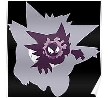 pokemon gengar haunter gastly anime manga shirt Poster
