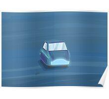 Blu Car Poster
