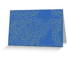Crackle at the Poolside Greeting Card