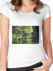 The Pond... Women's Fitted Scoop T-Shirt