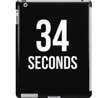34 Seconds iPad Case/Skin