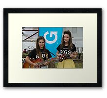 Leila Mcneelance and Lucy May Walker perform in Leicester Square during Buskin London Festival Framed Print