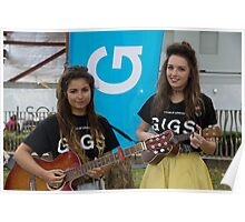 Leila Mcneelance and Lucy May Walker perform in Leicester Square during Buskin London Festival Poster