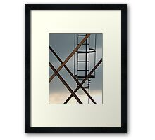 Up To The Watertank Framed Print