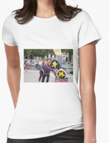 Witty Look perform in Trafalgar Square during the Buskin London Festival Womens Fitted T-Shirt