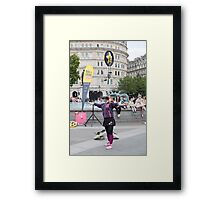 Witty Look perform in Trafalgar Square during the Buskin London Festival Framed Print